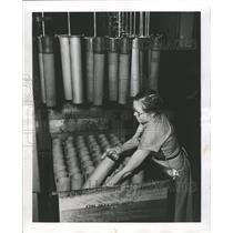 1953 Press Photo Artillery Shell Production Facility - RRW43345