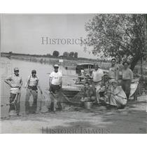 1961 Press Photo Fishing Chain O'Lakes Antioch Restock