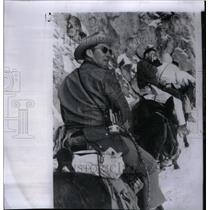 1964 Press Photo Astronaut Walter Schirra riding a mule - RRX36691