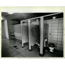 1924 Press Photo Calumet Beach Toilets Disrepair - RRW61669