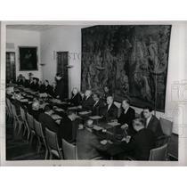 1956 Press Photo Atomic Minister Franz Strauss Germany