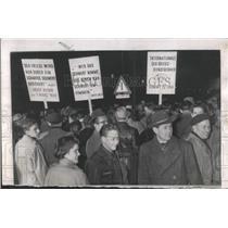 1955 Press Photo Frankfurt Germany Chancellor Konrad - RRX80781