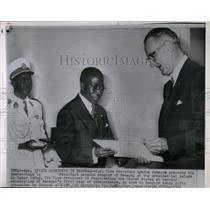 1961 Press Photo Lyndon Johnson Leopold Senghor Senegal