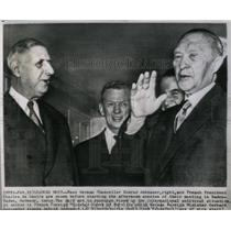 1962 Press Photo German Chancellor And French Pres Meet