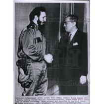 1962 Press Photo Fidel Castro & U Thant - RRX47889