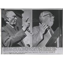 1957 Press Photo West German Chancellor Konrad Adenauer - RRX96815
