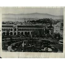 1930 Press Photo Santiago Chile Aerial View Andes Mntns - RRX76129