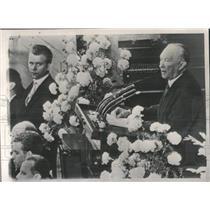 1961 Press Photo West German Chancellor Konrad Adenauer - RRX96823