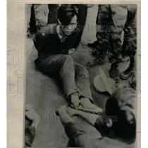 1965 Press Photo Viet Cong Guerilla Capture Vietnamese - RRX72215