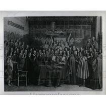 1946 Press Photo Signing Westphalia Treaty at Munster - RRW91285