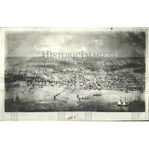 1936 Press Photo Detroit Waterfront History 1858