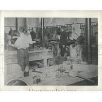 1932 Press Photo Carpenter Workshop on Dartmoor Prison - RRX81453
