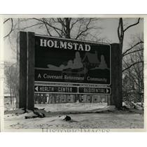 Press Photo Sign Health center Residential Holmstad - RRW92371