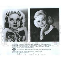 1941 Press Photo Actress Alice Faye And Ambassador For Pfizer Pharmaceuticals
