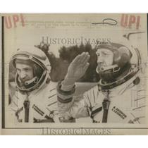 Press Photo Valeri Kubasov Alexei Lenov Soyuz Soviet