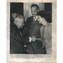 1964 Press Photo Johnson David Dubinsky Garment Worker AFL Cio President