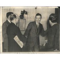 1937 Press Photo Henry Cabot Lodge at 1st Press Conference - RSC07345