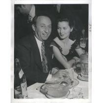 1944 Press Photo Producer Joe Pasternak and wife - RSC94009
