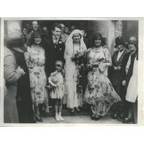 1930 Press Photo Patrick marriage Paul's Rexan Catholic Church Dover England