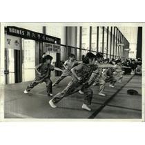 1981 Press Photo Chinese New Year Children Daley Plaza - RRW56825
