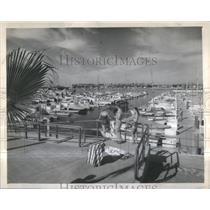 1958 Press Photo Southern California Long Beach Coast