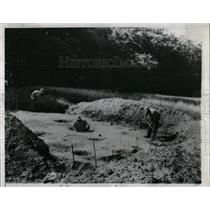 1958 Press Photo Hopewell Indian House Site Excavated - RRW64595