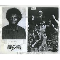 1978 Press Photo James Silas Guard San Antonio Spurs Basketball Player
