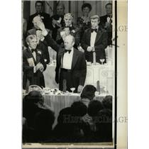 1975 Press Photo Gerald Ford being honored in a diner - RRW94475