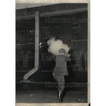 1937 Photo Officer Shoots Tear Gas In Fansteel Met. - RRX38187