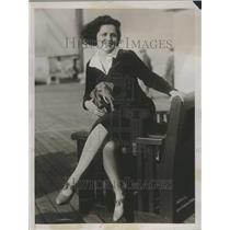 1927 Press Photo Evelione Taglioni famous pianist