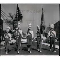 1957 Press Photo Parade Drum Bugle Corp. Chicago