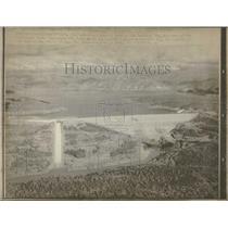 1970 Press Photo California Water Project Orville Dam