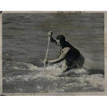 1972 Press Photo Joe Brunetti fishing technique stream - RRX55887