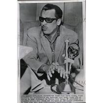 1961 Press Photo Jose Pardo Llada Cuban Propagandist - RRW10255