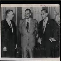 1956 Press Photo George Nasser & Premier Nasser - RRW07399