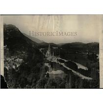 1929 Press Photo Lourdes France Aerial View Pyrenees - RRX78121