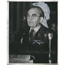 1938 press Photo Thomas Mooney Labor Union Bomber Speak - RRW32543