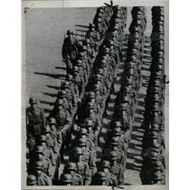 1958 Press Photo Soldiers Finnish Army Great Square - RRX70697