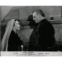1956 Press Photo Jennifer Jones & Charles Bickford