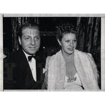 1938 Press Photo Martha Raye Dave Rose Hollywood - RRW70671