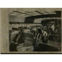 1967 Press Photo Mockup Cabin of L1011 Lockheed Jet - RRW56655