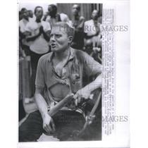 1963 Press Photo John Salter American Mixed Martial Artist Middleweight Michigan