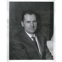 1961 Press Photo Emanuel F. Dudzinski Illinois Athletic Secretary