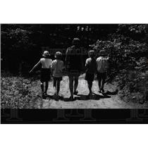 1965 Press Photo Girl Scout Camp/Michigan