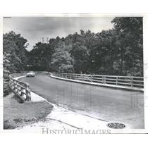1959 Press Photo Forest Avenue Bridge Highland Park