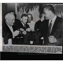 1958 Press Photo Khurshchev Pledges Help To Nasser