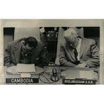 1957 Press Photo Kuznetsov foreign minister Russia doze - RRW66193