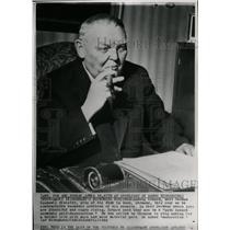 1962 Press Photo Ludwig Erhard West German Minister - RRW21299