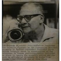 1968 Press Photo Max Delvalle/Panama/Vice President - RRX42019