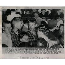 1960 Press Photo Tokyo Demonstrators American Youth